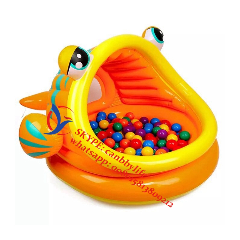 Intex Lazy Fish Shade Baby Pool Inflatable Kiddie Swimming Pool With Canopy-in Pool u0026 Accessories from Sports u0026 Entertainment on Aliexpress.com | Alibaba ...  sc 1 st  AliExpress.com & Intex Lazy Fish Shade Baby Pool Inflatable Kiddie Swimming Pool ...