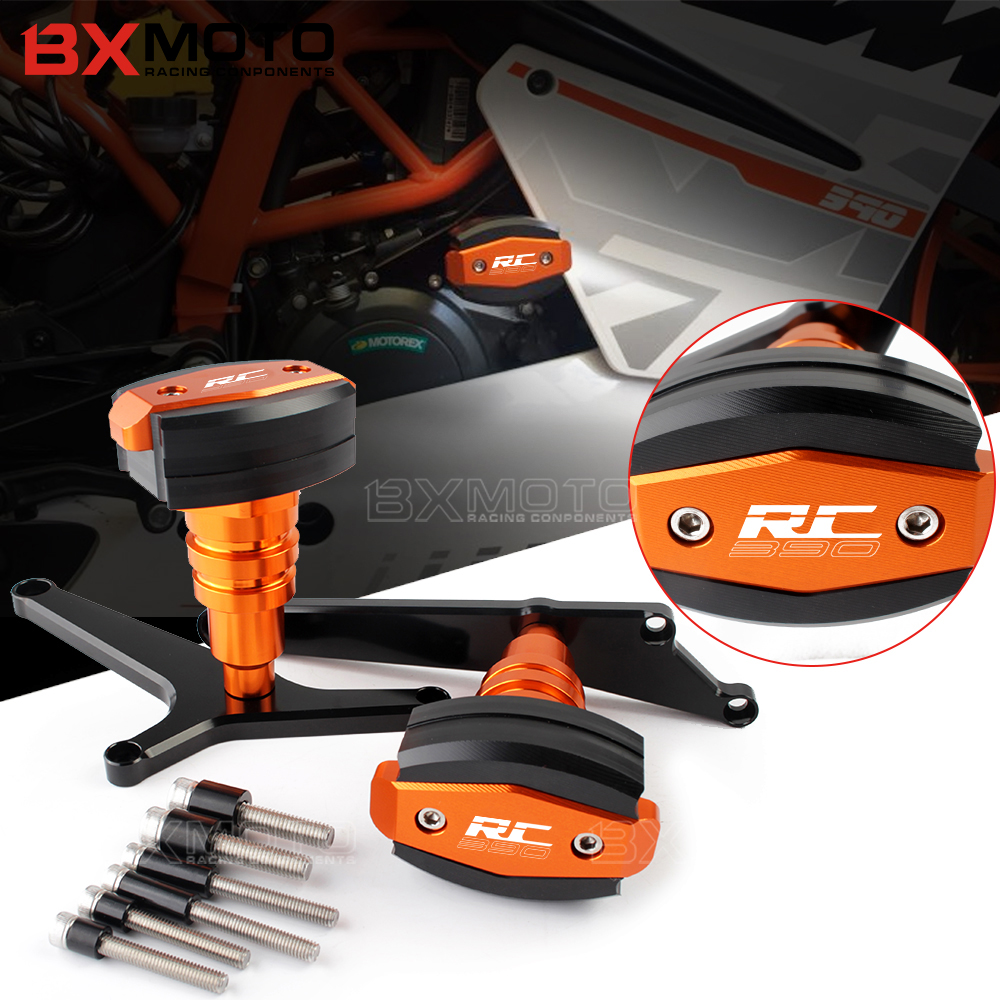 For KTM RC 390 2014-2017 RC 390 Motorcycle Engine Protector Pad Frame Sliders Crash Falling Protector Scooter Silders Crash motorcycle frame sliders crash protector bobbins falling protection for ktm 125 200 390 duke 2012 2013 2014 2015 black
