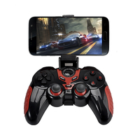 Wireless Bluetooth Game Controller Gamepad With Cell Phone Holder For IPod IPhone IPad And Most Android