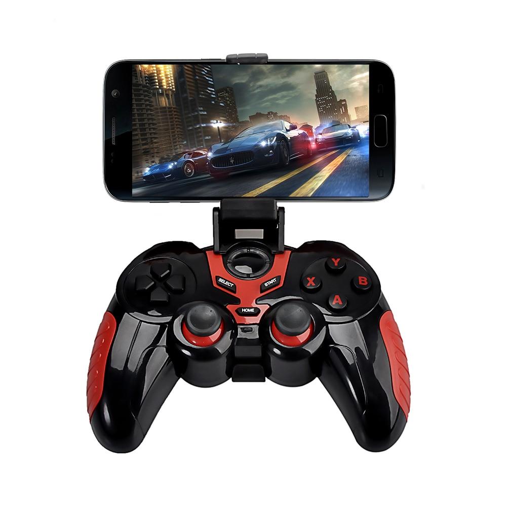 Беспроводная Связь Bluetooth Регулятор Игры Геймпад с Сотового Телефона Держатель для iPod/iphone/ipad и большинство Android система ПК таблицы