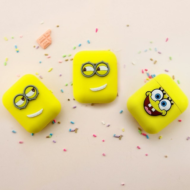 Yellow Unique Style 3D Cartoon Silicone Case For Apple