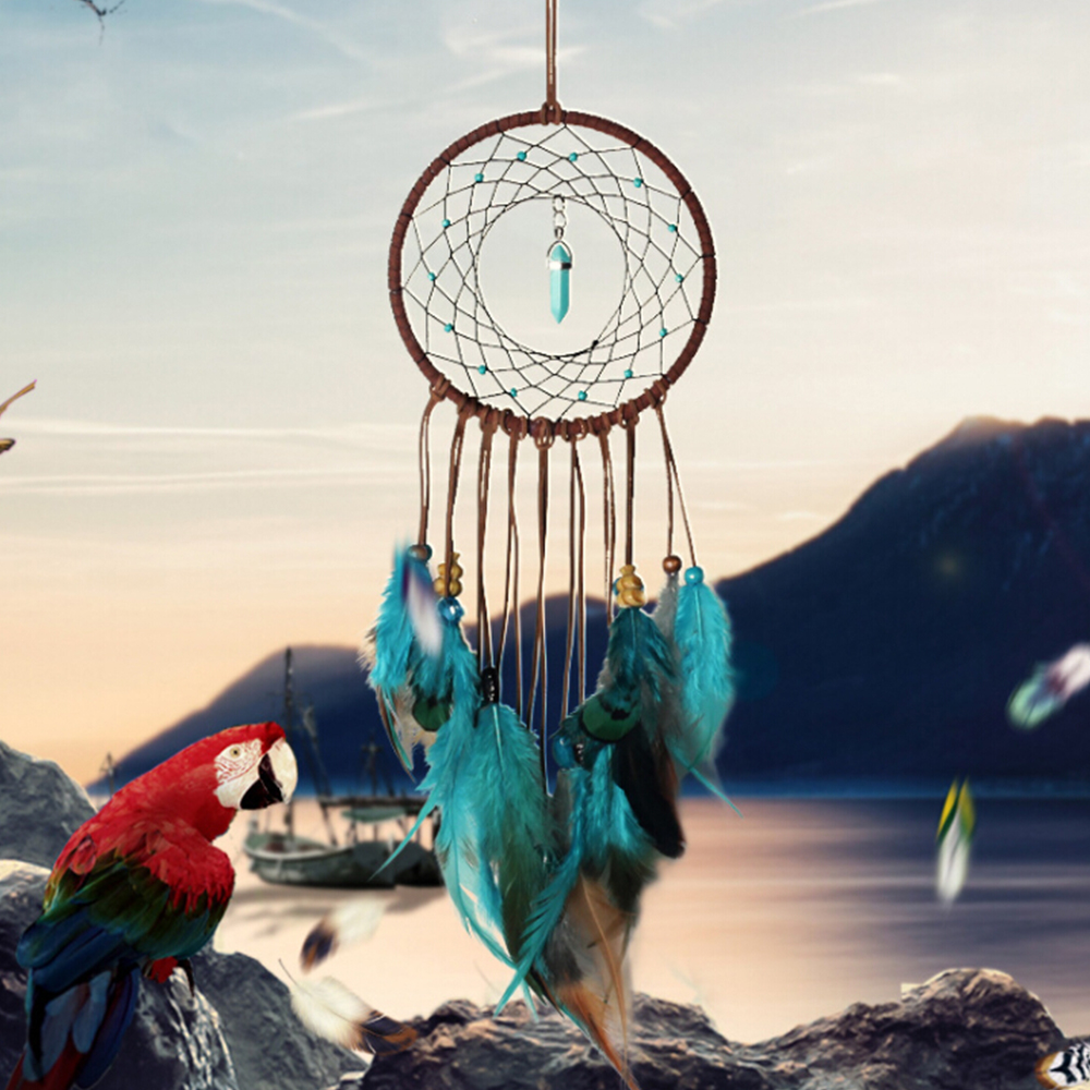 2019 New Dream Catcher Dreamcatcher Feather Dream Catcher DIY Handmade Home Wall Car Room Romantic Hanging Decoration