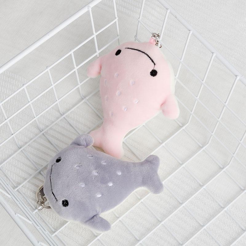 Stuffed Toy Keychain Bag Charms Backpack Purses Fur Pendant Mini Kawaii Stuffed Ocean Animal Fish Game Prize Dolls For Clip Doll