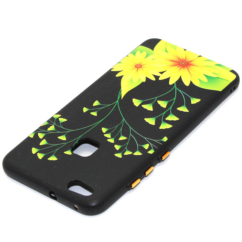 3D Relief flower silicone huawei P10 lite (38)