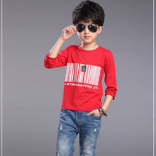2016 Autumn New Long Sleeve Children Cotton T Shirts Candy Color Bottoming T-Shirt For Kid Infant Boys T shirt XC02
