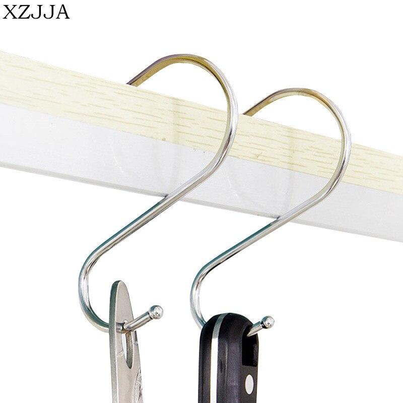 Organizer Stainless Steel S Shaped Hook Clasps Hooks Hanger Storage Rack