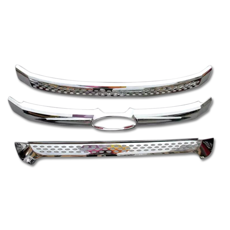 3pcs ABS Front Middle Grille Grill Cover Strip Decor Trim For Ford Explorer 2011 2012 2013 2014 2015 car panel body cover protection trim front up grid grill grill racing 1pcs for nissan march 2011 2012 2013 2014 2015 2016 2017