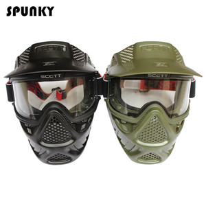 Image 3 - High Strength Paintball Mask or Airsoft Mask with Double Lens Goggle
