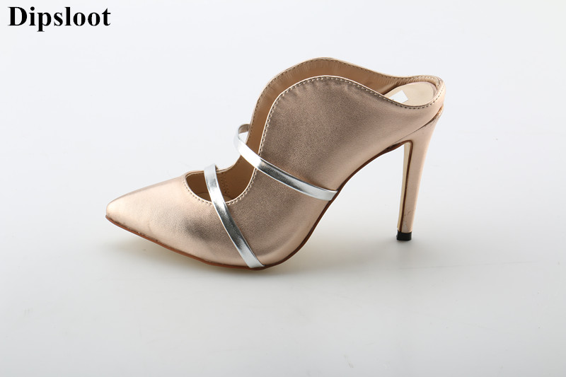 Dipsloot 2018 Girls Sexy Pointed Toe Slingback Shoes Woman Band Slip-on Slippers Female Stiletto High Heels Dress Shoes LadyDipsloot 2018 Girls Sexy Pointed Toe Slingback Shoes Woman Band Slip-on Slippers Female Stiletto High Heels Dress Shoes Lady