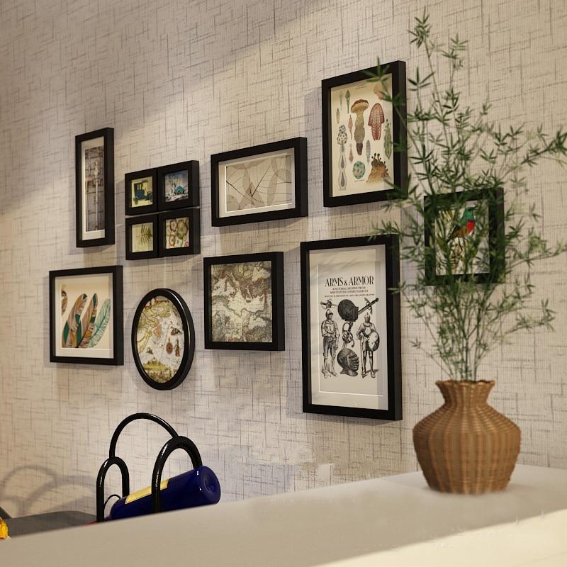 12 pièces cadres de décoration européenne solide en bois cadre Photo combinaison accessoires de décoration de maison monté cadre Photo mural