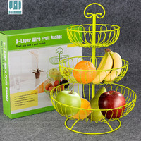3 Tiers Fruit Cupcake Iron Cake Stand Birthday Party Hotel Decoration Wedding Towers Dressert