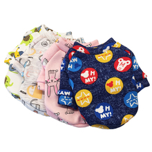 Cute Cartoon Pet Dog Clothes Soft Warm Colorful Kawaii Puppy Coat Jackets For Small Dogs And Cats Overalls