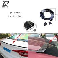 ZD Car Carbon Fiber Front Rear Bumper Front Lip Tail Spoilers For Kia Rio 3 Ceed Toyota Corolla 2008 Avensis C HR RAV4 Mazda 3 6