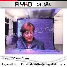 Flyko Крытый гибкий замечательно вел видео ткань ТВ show p35mm 3×4 м PC контроллер