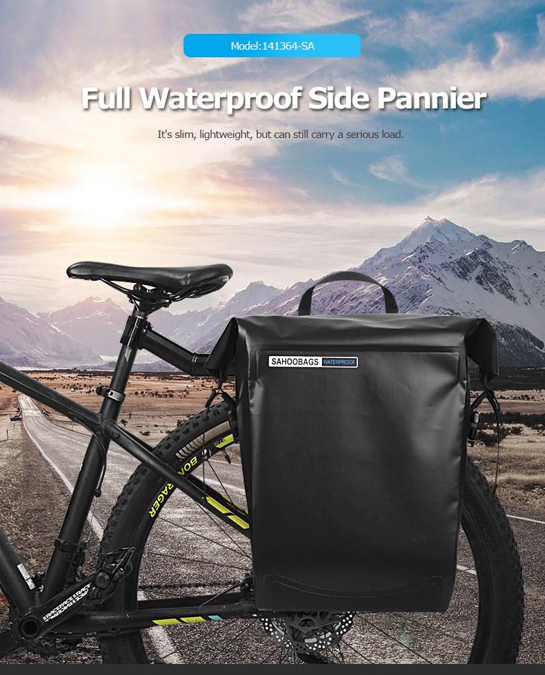 Clearance Sahoo 141364-SA 20L Full Waterproof Dry Mountain Road Bike Bicycle Cycling Pannier Bag Back Rear Seat Trunk Bag Rack Pack 0