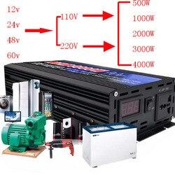 500 w-6000 w puro inversor a onda sinusoidale DC12V-60 v por ac220v/110 v 50 hz convertitore de potenza impulsionador por inversor automático