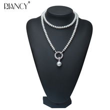 Fashion high quality Long Necklace  Natural Pearls Freshwater Pearls Jewelry For Wedding Women 900mm pearls
