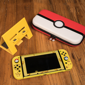 For Nintendos Switch NS Console Slim Back Hard Split Protective Cover Cases Switch Joy con Let's go Eevee Picachu Colorful Shell(China)