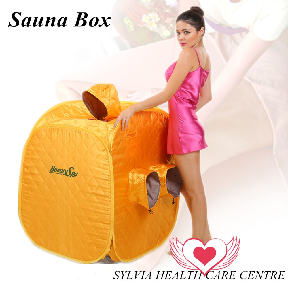 Online Shop Portable Personal Folding Home Steam Sauna Spa Slimming Sauna  Box Body Steam Room Yellow As Seen On TV Free Shipping | Aliexpress Mobile