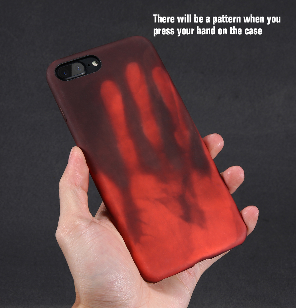 FLOVEME Thermal Discoloration Protective Phone Case For iPhone 7 7 Plus Ultra Thin Soft Silicone Back Cover For iPhone 6 6S Plus (9)