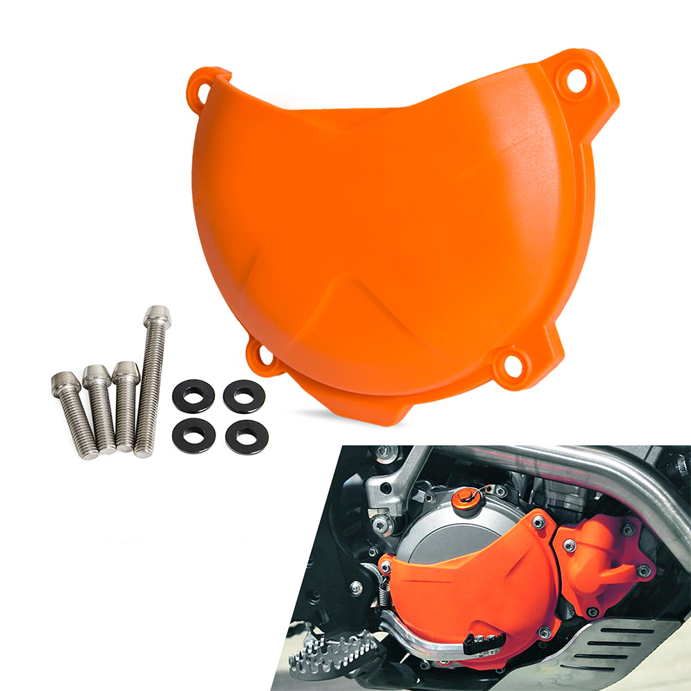 NICECNC Orange Motorcycle Clutch Cover Protection Cover Fits For KTM 250 SX-F EXC-F SIX DAYS XC-F XCF-W 350 XCF-W 2012-2015 2016 clutch cover protection cover for ktm 250 sx f 250 xc f 350 xc f 2013 2014 2015