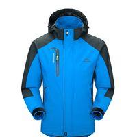 Outdoor-Sport Kleidung Camping Trekking Wandern Männlich Fahrrad Ski Jacke Männer Wasserdichte Jacken Softshell Abnehmbare Hut 2018 NEUE Heiße
