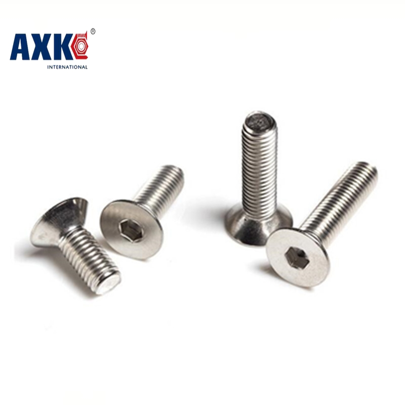 Vis Drywall Axk (50 Pc/lot) M2,m2.5,m3,m4 *l =4~50mm Din7991 Stainless Steel A2 Hex Socket Flat Head Countersunk Toy Csk ScrewVis Drywall Axk (50 Pc/lot) M2,m2.5,m3,m4 *l =4~50mm Din7991 Stainless Steel A2 Hex Socket Flat Head Countersunk Toy Csk Screw