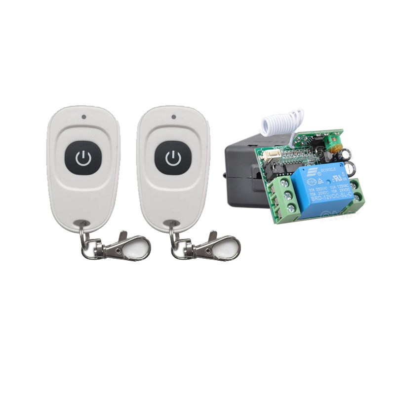 AK-RK01-12 Light Switch DC 12v 10A relay 1CH wireless RF Remote Control Switch System 2PCSTransmitter+ Receiver+Case