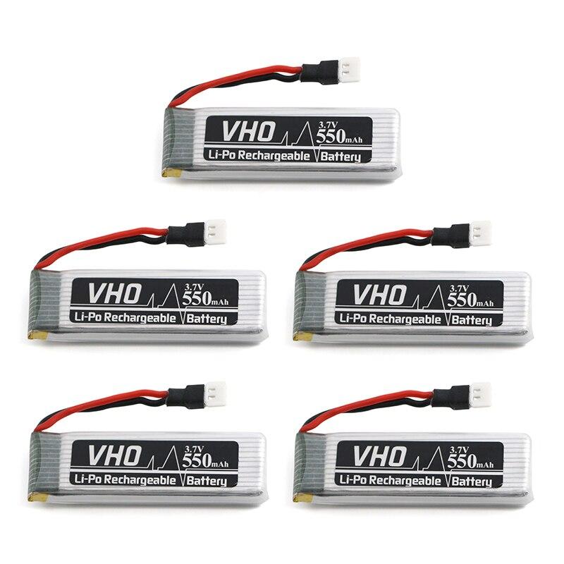 VHO 5 PZ 550 mah 3.7 V batteria Lipo Per JJRC H37 Eachine E50 SYMA X5HC X5HW GoolRC T37 Wltoys V977 V930 V988 RC Drone parti