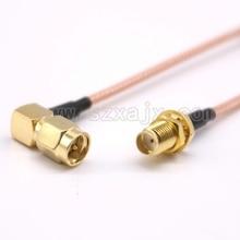 SMA кабель SMA Мужской правый угол к SMA женский RF коаксиальный Соединительный кабель RG316 Соединительный адаптер Быстрая