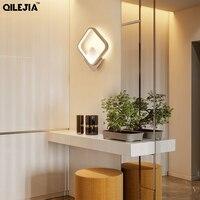 방 옆에 거실에 대 한 현대 led 벽 조명 침실 복도 화이트 블랙 프레임 led sconce 벽 램프 사각형 모양 dero