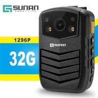 GSUNAN 32G Police Officer Use Law Enforcement Camera Body Camera for the Police Full HD 1296P Video Recorder