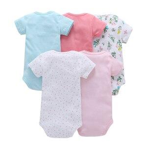 Image 5 - תינוק ילד ילדה בגד גוף גוף חליפת קצר שרוול בגדי קריקטורה יוניסקס תינוק קיץ בגדי 2020 יילוד תלבושות חדש נולד תלבושת