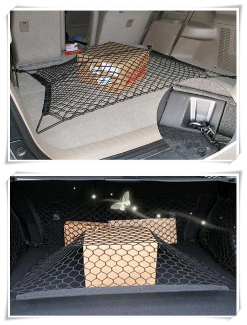 Car Trunk Cargo Organizer Storage Net Trunk Organizer For Peugeot 206 <font><b>207</b></font> 208 301 307 308 408 407 508 2008 3008 4008 Car-styling image