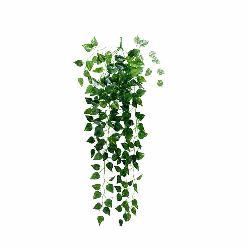 Художественное украшение лоза деликатные искусственные листья гирлянда растение искусственная Виноградная лоза листва вечерние свадебные украшения домашний Декор подарок