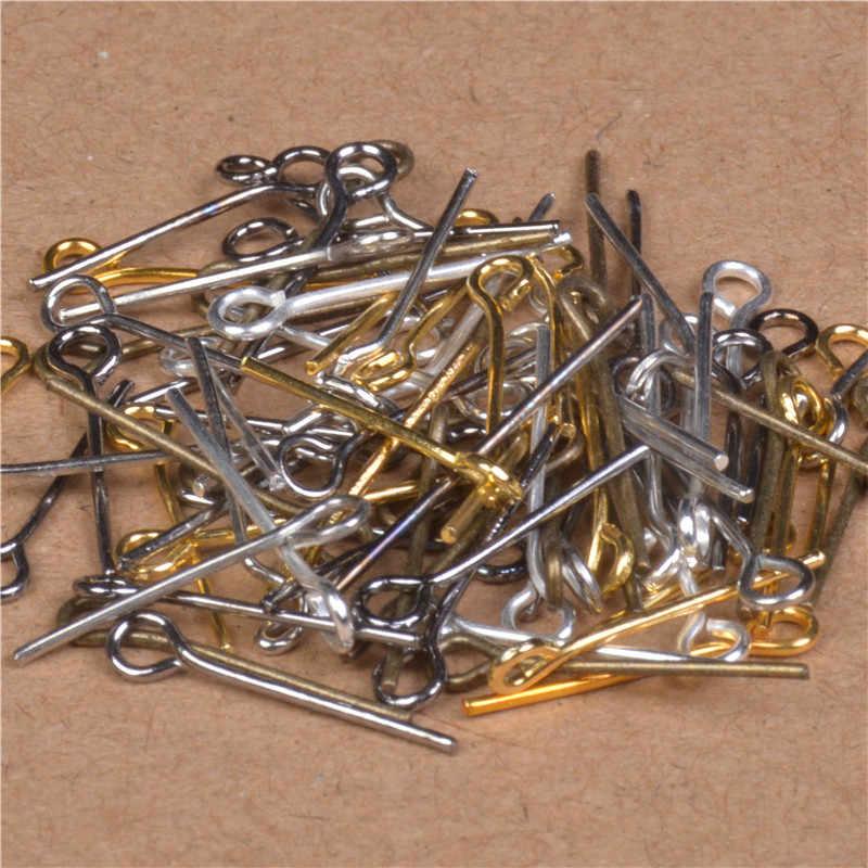 100 adet 15/20/25/30/35/40mm Dokuz Kelimeler Pimleri Paslanmaz Çelik Göz pimleri Takı Bulgular Takı Yapımı Için Küpe DIY Aksesuarları