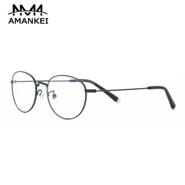 Round Glasses Frame Clear Lens Female AMANKEI Retro Myopic ...