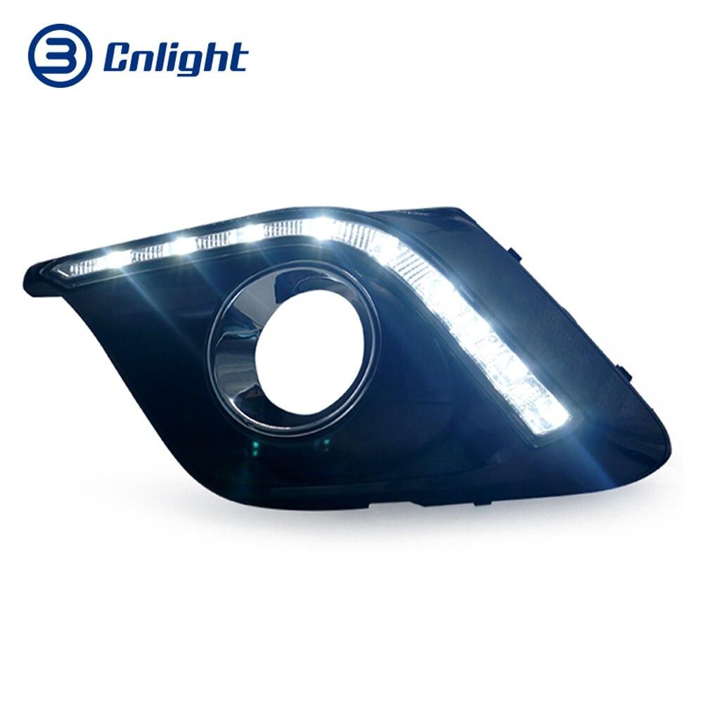 Cnlight Daytime Running light Mazda3 Alexa 2014 2015 2016 White Light Angle Eyes 6500k ветровики skyline mazda 3 hb5d 09