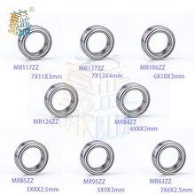 5pcs/lot Deep Groove Ball Bearing Mr117zz Mr137zz Mr106zz Mr126zz Mr84zz Mr85zz Mr95zz Mr63zz Miniature Mini Bearings 7*11*3mm