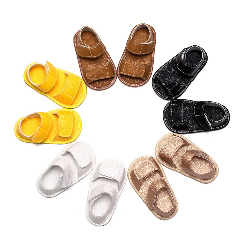 0-24Months Summer Shoes Toddler Boy Soft PU Leather Sandals Infant Baby Boys Summer Soft Sole Beach Sandals
