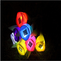 Free Lighting Garden Decoration Solar Lights Garden Lights Outdoor Lighting Tulip Lamp 8pieces Wholesale Free Shipping