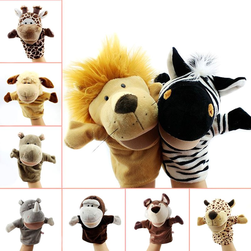 Cartoon Animal Hand Puppet Toys Classic Kawaii Children Hand Puppet Novelty Cute Dog Giraffe Monkey Lion Muppet Kids