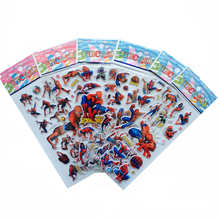 6pcs / lot Bubble Stickers 3D Cartoon Spider Man klistermärken Klassisk Leksaker Scrapbook For Kids Barn Gåvor