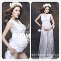 New Royal Style White Maternity Lace Dress Pregnant Summer Photography Props Fancy Pregnancy Maternity Photo Shoot Long Dress