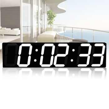 Remote Control Oversize Led Wall Clock 3D Big Screen Digital Timer 6 Digits Stopwatch Countdown Alarm Clock - DISCOUNT ITEM  0% OFF All Category