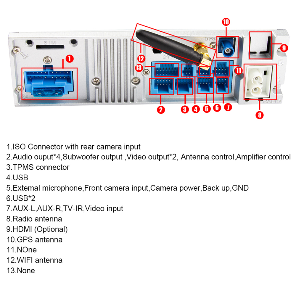 Eunavi 1 Din Octa Core Android 8.0 Radio GPS système stéréo pour BMW E39 X5 E53 10.2 ''lecteur multimédia de voiture 3G 4G WIFI écran IPS - 4