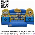 popular design inflatable minion bouncer castle jumping moonwalk
