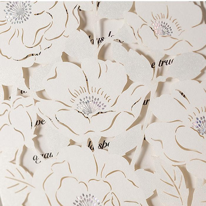 Laser cut paper flower patterns free customized printing handmade laser cut paper flower patterns free customized printing handmade wedding invitations cards 50pcs free shipping in cards invitations from home garden on mightylinksfo