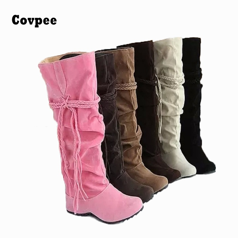 Shoes women boots autumn and winter snow boots ladies sexy Knee high boot big size 34-43 Hot 2015 Fashion newest Free shipping free shipping over knee wedge boots women snow fashion winter warm footwear shoes boot p15323 eur size 34 39