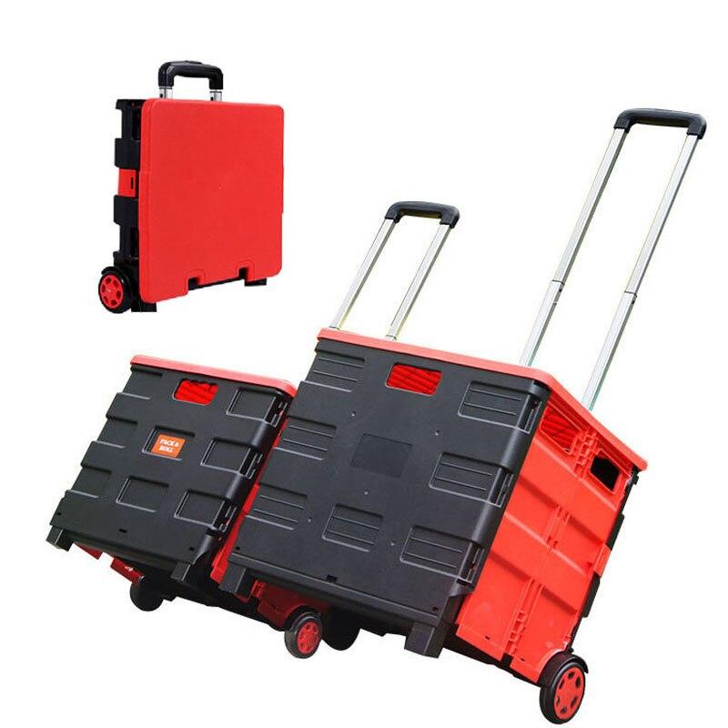 Praktyczne składane kosze do przechowywania z kółkami przenośny Wózek na zakupy koszyk składane pudło do przechowywania organizer do suszenia prania Case dla samochodów w Kosze do przechowywania od Dom i ogród na  Grupa 1